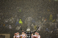 Football: Oakland Raiders Ray-Ray Armstrong (57) on field during game vs Kansas City Chiefs at O.co Coliseum. Rain, weather. <br /> Oakland, CA 11/20/2014<br /> CREDIT: Jed Jacobsohn (Photo by Jed Jacobsohn /Sports Illustrated/Getty Images)<br /> (Set Number: X158961 TK1 )