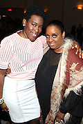 New York, NY-May 13: (L-R) Resturantuers Trenesse Woods-Black and Melba Wilson attend ' Harlem on my Plate' and the Toasting of the Schomburg Center for its National Medal for Museums & Library Service Award powered by Citi on May 13, 2015 in New York City. Terrence Jennings/terrencejennings.com)