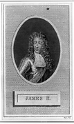 James II (1633-1701) king of Great Britain and Ireland 1685-1688.  Son of Charles I and brother of Charles II, father of Mary II and Queen Anne. Engraving.