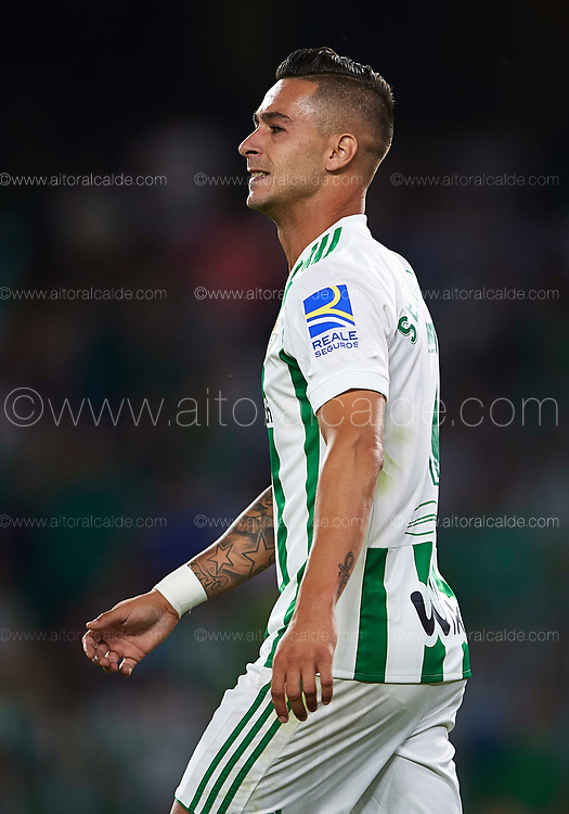 SEVILLE, SPAIN - SEPTEMBER 25:  Sergio Leon of Real Betis Balompie looks on during the La Liga match between Real Betis and Levante at Estadio Benito Villamarin on September 25, 2017 in Seville, .  (Photo by Aitor Alcalde Colomer/Getty Images)
