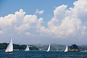 S Class sailing in the Robert H. Tiedemann Classic Yachting Weekend race 1.