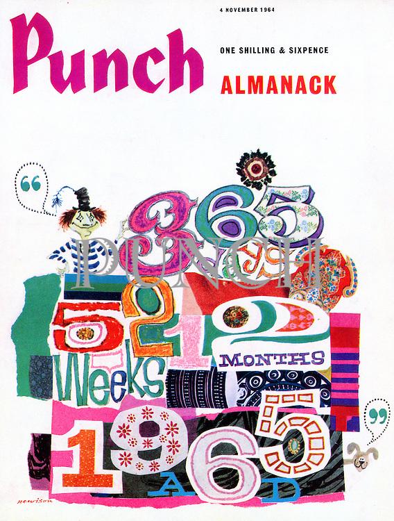Punch Almanack (Front cover, 4 November 1964
