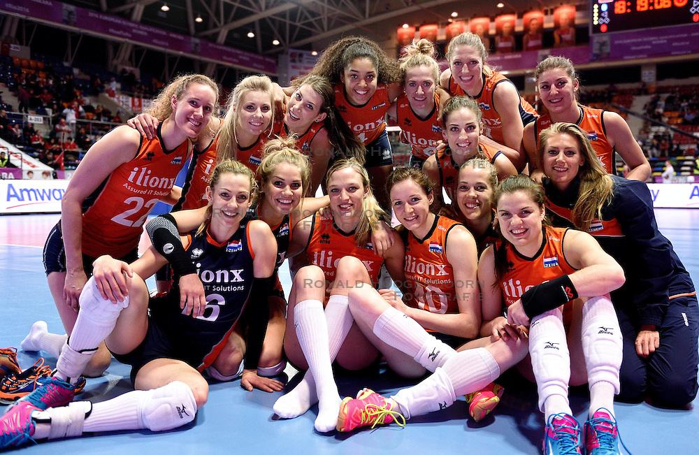 08-01-2016 TUR: European Olympic Qualification Tournament Nederland - Italie, Ankara<br /> De volleybaldames hebben op overtuigende wijze de finale van het olympisch kwalificatietoernooi in Ankara bereikt. Italië werd in de halve finales met 3-0 (25-23, 25-21, 25-19) aan de kant gezet