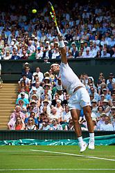 LONDON, ENGLAND - Thursday, July 5, 2018: Rafael Nadal (ESP) on day four of the Wimbledon Lawn Tennis Championships at the All England Lawn Tennis and Croquet Club. (Pic by Kirsten Holst/Propaganda)