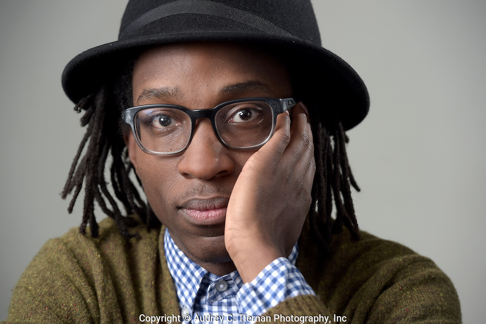 New York, NY,  April 24, 2015: ---  Sean Des Vignes a student at Brooklyn College has won a Beinecke Scholarship. Sean is also known as Mokgethi Thinane. © Audrey C. Tiernan