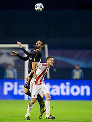 Jeremy Taravel #87 of GNK Dinamo Zagreb during football match between GNK Dinamo Zagreb and Olympiakos in Group F of Group Stage of UEFA Champions League 2015/16, on October 20, 2015 in Stadium Maksimir, Zagreb, Croatia. Photo by Urban Urbanc / Sportida