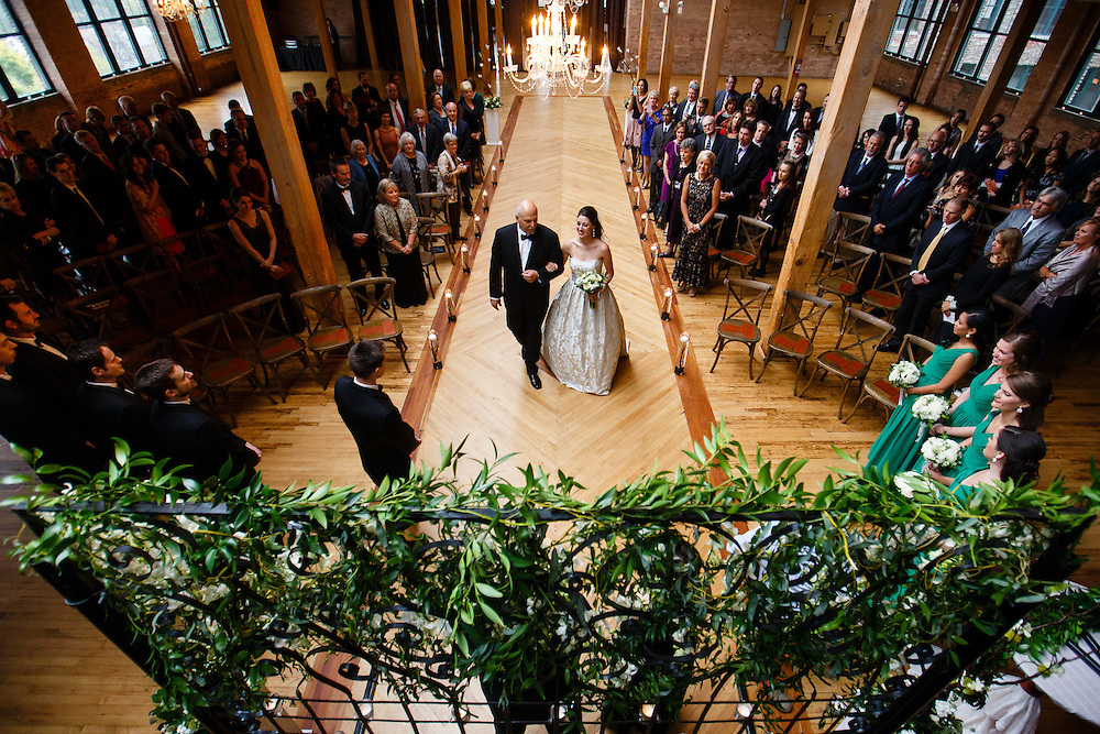 Blake and Susan are married at Bridgeport Art Center in Chicago, Saturday, Oct. 3, 2015. Photo by Justin Edmonds