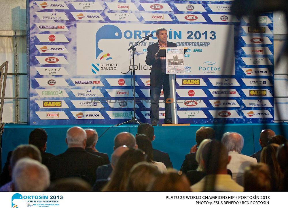 Platu 25 World Championships, Portosín , Galicia, Spain. 24-29 September 2013. Opening Ceremony ©