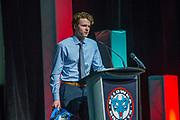 KELOWNA, CANADA - MARCH 19:   Lucas Johansen at the Kelowna Rockets Awards Ceremony on March 19, 2017 at the Kelowna Community Theater in Kelowna, British Columbia, Canada.  (Photo By Cindy Rogers/Nyasa Photography,  *** Local Caption ***