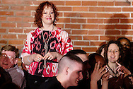"""Tamra Francis during Mayhem & Mystery's production of """"Fashion Friction"""" at the Spaghetti Warehouse in downtown Dayton, Monday, March 21, 2011."""