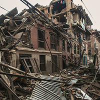 Devastated city in Bhaktapur , Nepal