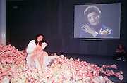 "VENICE, ITALY..June 1997..47th Biennale of Venice.Italian Pavillion..Performance ""Cleaning the House"" by and with Marina Abramovic (Winner of 1st Price), a moving reflection on the war in ex-Yugoslavia. .(Photo by Heimo Aga)"
