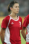 12 August 2008: Emily Zurrer (CAN).  The women's Olympic team of Sweden defeated the women's Olympic soccer team of Canada 2-1 at Beijing Workers' Stadium in Beijing, China in a Group E round-robin match in the Women's Olympic Football competition.