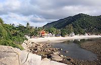 Haad Rin Nok, the full moon party beach.