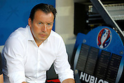 Belgium manager Marc Wilmots before the Euro 2016 match between Sweden and Belgium at Stade de Nice, Nice, France on 22 June 2016. Photo by Andy Walter.