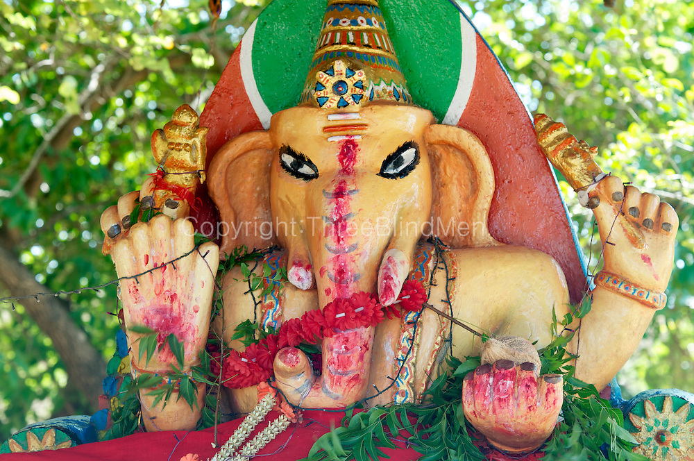 Ganesh shrine on road between Polonnaruwa and the East Coast.