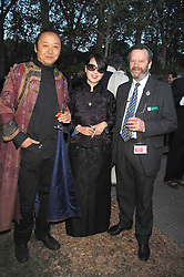 Left to right, designer SHAO FAN, his wife ANNA and MICHAEL BALSTON at a reception at the gold medal winning De Beers garden in aid of the KT Wong Charitable Trust at the 2nd day of the 2008 Chelsea Flower show on 20th May 2008.<br /><br />NON EXCLUSIVE - WORLD RIGHTS