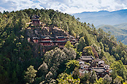 CHINA, Yunnan Province, Laojushan mountain, Shaoboshan grotto temple.