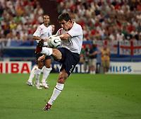 Photo: Chris Ratcliffe.<br /> England v Portugal. Quarter Finals, FIFA World Cup 2006. 01/07/2006.<br /> Gary Neville of England.