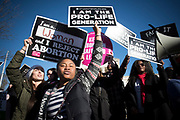 WASHINGTON,D.C. JAN 19: On Friday January 19, 2018, over 100,000 people from around the country came to Washington to stand up for the right to life, from conception to natural death. President Donald J. Trump and Vice President Michael Pence addressed the crowd via livestream from the Rose Garden.