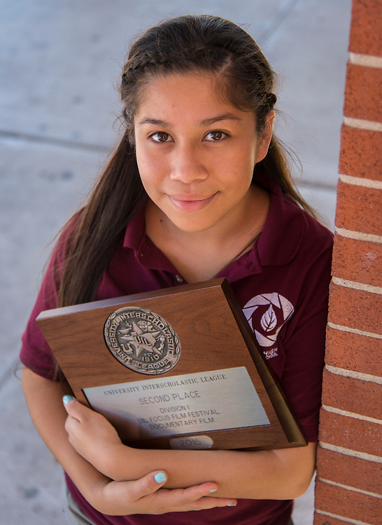 Victoria Martinez, 16, poses for a photograph at Furr High School , October 2, 2015.