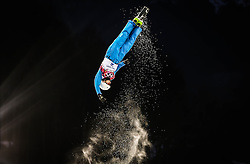 Anton Kushnir of Belarus in action during the Men's Freestyle Skiing Aerials Qualification at the Rosa Khutor Extreme Park during the Sochi 2014 Olympic Games, Krasnaya Polyana, Russia, 17 February 2014.