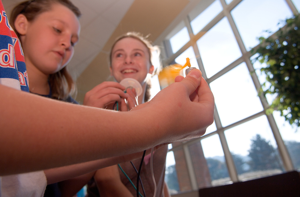 Amanda Tnkham,Sueanne Frazee, Katelyn Pierson..Students from Morrison Elementary, Mrs. Conroy's 5th grade class....Energy Days: over 1,000 kids in grades 3-6 at the Ping Center on .Wednesday and Thursday of next week (10/4 & 5) to learn about energy, .alternative energy and resource conservation.