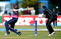 Heather Knight of England Women plays a pull shot - Mandatory by-line: Robbie Stephenson/JMP - 12/07/2017 - CRICKET - The County Ground Derby - Derby, United Kingdom - England v New Zealand - ICC Women's World Cup match 21