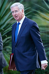 © Licensed to London News Pictures. 13/10/2015. London, UK. Defence Secretary MICHAEL FALLON attending to a cabinet meeting in Downing Street on Tuesday, 13 October 2015. Photo credit: Tolga Akmen/LNP