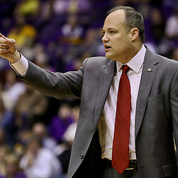 Jan 26, 2016; Baton Rouge, LA, USA; Georgia Bulldogs head coach Mark Fox during the first half of a game against the LSU Tigers at the Pete Maravich Assembly Center. Mandatory Credit: Derick E. Hingle-USA TODAY Sports