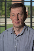 Alexander Voinov of Ohio University's Institute of Nuclear & Particle Physics (INPP) poses for a portrait in the Living Learning Center for a portrait on September 27, 2016.