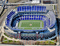 Aerial View M&T Stadium home  of the Baltimore Ravens ([Julia Robertson]/via AP Images)