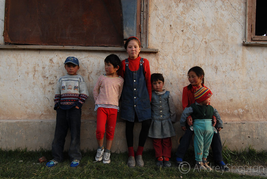 A portrait of Kyrgyz kids