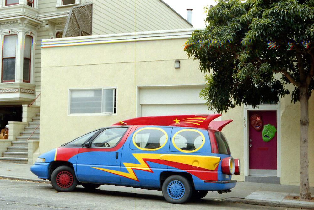 Crazy car, Scott street, San Francisco