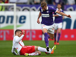 01.05.2016, Generali Arena, Wien, AUT, 1. FBL, FK Austria Wien vs FC Red Bull Salzburg, 33. Runde, im Bild Duje Caleta Car (FC Red Bull Salzburg) und Alexander Gruenwald (FK Austria Wien) // during Austrian Football Bundesliga Match, 28th Round, between FK Austria Vienna and FC Red Bull Salzburg at the Generali Arena, Vienna, Austria on 2016/05/01. EXPA Pictures © 2016, PhotoCredit: EXPA/ Thomas Haumer