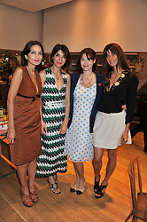 Left to right, YASMIN MILLS, EVA KARAYANNIS, JASMINE GUINNESS and LISA BILTON at a ladies lunch in aid of Mothers4Children hosted by Carmelbabyandchild at 259 Pavillion Road, London SW1 on 30th June 2011.