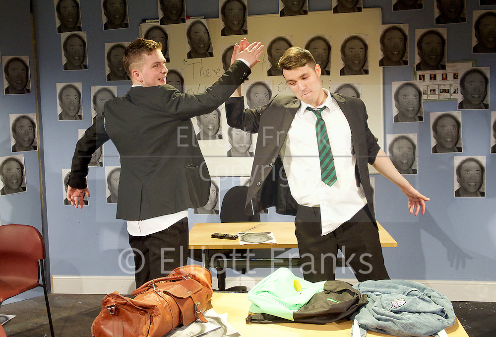 A Level Playing Field <br /> by Jonathan Lewis <br /> at the Jermyn Street Theatre<br /> London, Great Britain <br /> 13th April 2015 <br /> Press photocell <br /> <br /> <br /> Abe Lewis<br /> <br /> Finlay Stroud