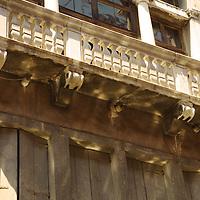Italian building with grand balcony in Venice