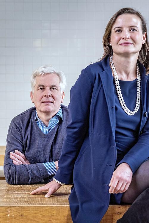 Netherlands. Amsterdam, 10-01-2017. Photo: Patrick Post.  Portrait of Thomas Rau & Sabine Oberhuber.