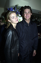Model MISS JEMMA KIDD and MR DAVID DE ROTHSCHILD son of banker Sir Evelyn de Rothschild, at a party in London on 30th March 2000.OCL 16<br /> © Desmond O'Neill Features:- 020 8971 9600<br />    10 Victoria Mews, London.  SW18 3PY<br /> photos@donfeatures.com  www.donfeatures.com<br /> MINIMUM REPRODUCTION FEE AS AGREED.<br /> PHOTOGRAPH BY DOMINIC O'NEILL