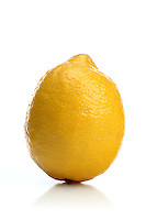 Studio shot of lemon on white background