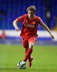 LONDON, ENGLAND - Friday, April 17, 2015: Liverpool's Harry Wilson in action against Tottenham Hotspur during the Under 21 FA Premier League match at White Hart Lane. (Pic by David Rawcliffe/Propaganda)