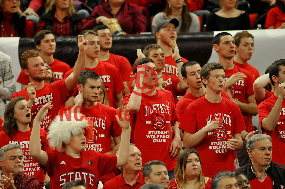 NC State fans cheer on Wolfpack during ACC action.