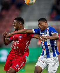 12-05-2018 NED: FC Utrecht - Heerenveen, Utrecht<br /> FC Utrecht win second match play off with 2-1 against Heerenveen and goes to the final play off / (L-R) Gyrano Kerk #7 of FC Utrecht, Denzel Dumfries #2 of SC Heerenveen