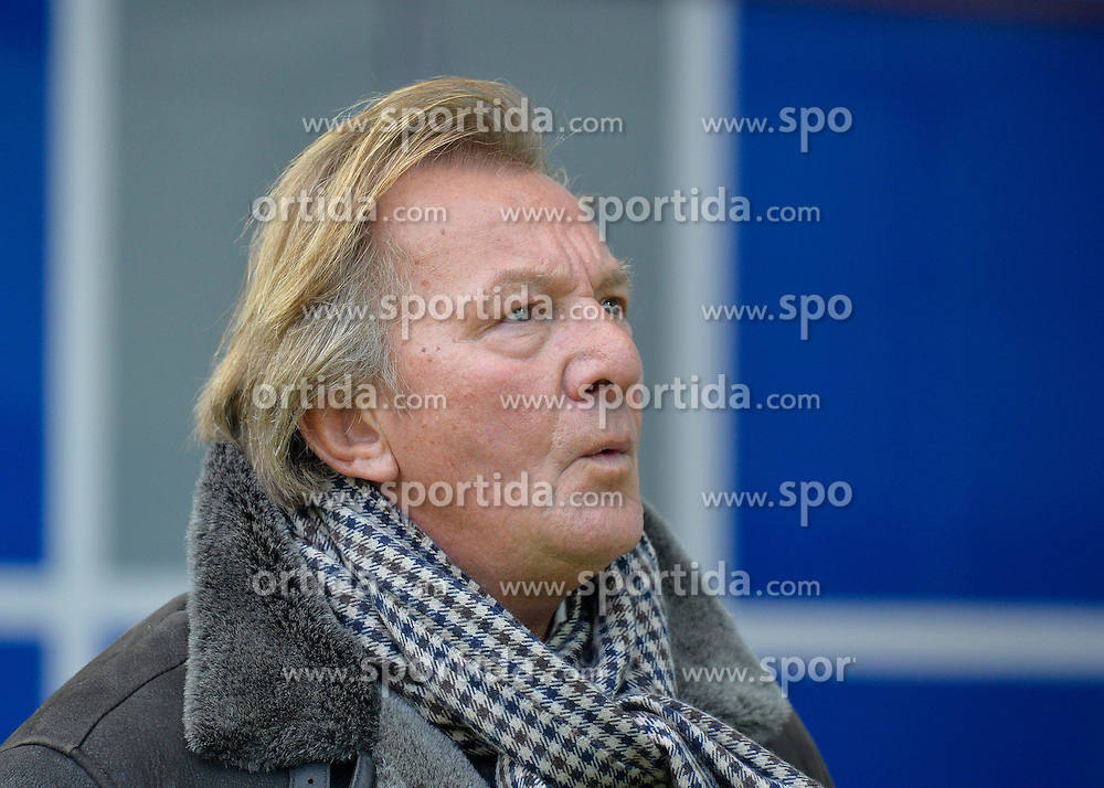 28.02.2015, Rhein Neckar Arena, Sinsheim, GER, 1. FBL, TSG 1899 Hoffenheim vs 1. FSV Mainz 05, 23. Runde, im Bild Praesident Harald Strutz 1. FSV Mainz 05 Portrait Portraet freundlich gute Laune pfeift vor sich hin // during the German Bundesliga 23rd round match between TSG 1899 Hoffenheim and 1. FSV Mainz 05 at the Rhein Neckar Arena in Sinsheim, Germany on 2015/02/28. EXPA Pictures &copy; 2015, PhotoCredit: EXPA/ Eibner-Pressefoto/ Weber<br /> <br /> *****ATTENTION - OUT of GER*****