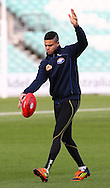 Picture by Paul Terry/SLIK images +44 7545 642257. 1st November 2012. .Jason Johannisen of theWestern Bulldogs during at training session ahead of Saturday's Elastoplast AFL European Challenge at Kia Oval in London, UK