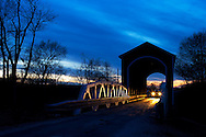 The Wolf covered bridge near Knoxville, IL spans the famous Spoon River.