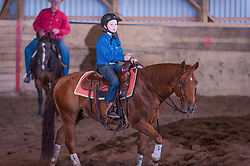September 23, 2017 - Minshall Farm Cutting 5, held at Minshall Farms, Hillsburgh Ontario. The event was put on by the Ontario Cutting Horse Association. Riding in the $250 Novice Rider Class is Ayden Bourgeois on Smart N Prime owned by Rheal Bourgeois. This was Ayden's first cut.