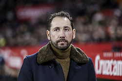 January 23, 2019 - Seville, Spain - PABLO MACHIN, head coach of Sevilla, in action during the King's Cup quarter-final first leg soccer match between Sevilla FC and FC Barcelona at Sanchez Pizjuan Stadium (Credit Image: © Daniel Gonzalez Acuna/ZUMA Wire)