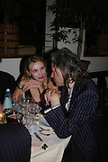 Allegra Hicks and Sir Bob Geldof. Dinner at San Lorenzo, Beauchamp Place after Tod's hosts Book signing with Dante Ferretti celebrating the launch of 'Ferretti,- The art of production design' by Dante Ferretti. 19 April 2005.  ONE TIME USE ONLY - DO NOT ARCHIVE  © Copyright Photograph by Dafydd Jones 66 Stockwell Park Rd. London SW9 0DA Tel 020 7733 0108 www.dafjones.com
